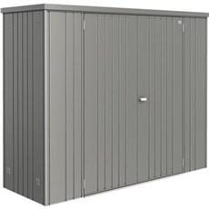Biohort Udendørs opbevaring - REDSKABSRUM STR. 230  1,88 M2 Kvartsgrå Metallic