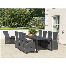 Outrium Havemøbelsæt - Toscana Barcelona 8 stole