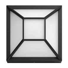 Philips Væglampe - Drosera wall lantern black 1x12W 176V