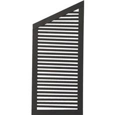 Plus Træhegn - Silence Skrå-element 64x140/110 cm Fungicid beh. og grundmalet sort