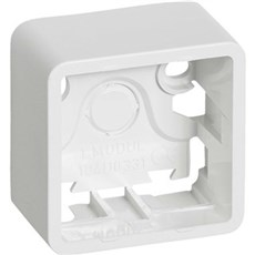 LK FUGA® Stikkontakt - BASELINE underlag 1 modul Hvid