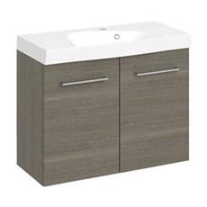 Multo + Badeværelsessæt - 65 cm Multo m/låger inkl. vask LOTTO,grå