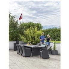 Outrium Havemøbelsæt - Altea Parma 6 stole Sort