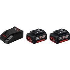 Bosch Batteri - BATTERISÆT 18 V-LI - 2x4,0Ah + lader