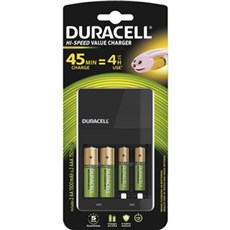 Duracell Special batterier - High Speed Charger 45min +2xAA/2xAAA Recharge Plus