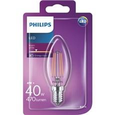 Philips LED - LEDClassic 40W B35 E14 WW CL ND 1BC/4