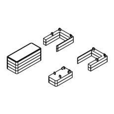 Scanbad Badafskærmning - Match Afstandsstyk(2*6 mm)dør/fast v