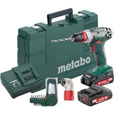 Metabo Akku bore-skruemaskine - BS18QUICK 2X2,0 M/VINKEL OG BITSSÆT