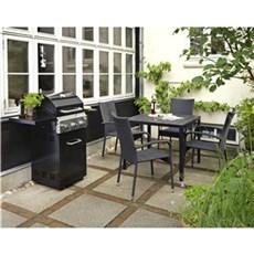 Outrium Havemøbelsæt - Toscana Napoli sort 4 stole