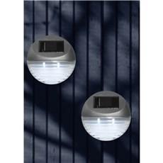 VELI LINE Solcellelampe - Solar Fence 4 pak light SØLV