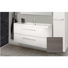 Scanbad Badeværelsessæt - Aura m/vask - Grå Dekor