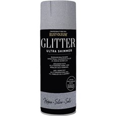 Rust-Oleum Spraymaling - Glitter Ultra Shimmer - Silver. 450 ml. spray Sølv 450 ml