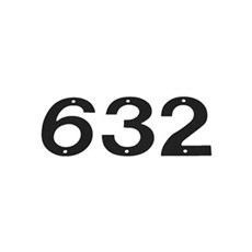 Allux Postkasse - HUSNUMMER NR. 0 18 CM SORT