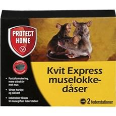 Protect Home Mus- og rottefælder - Kvit Express Muselokkedåse 2 stk