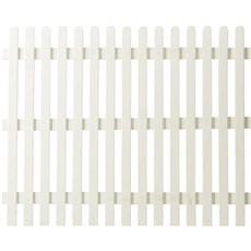 PLUS Træhegn - Retro hvid 150x120 cm Hegn