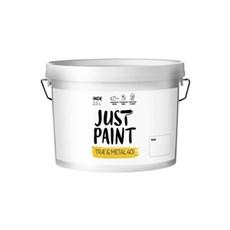 Just Paint Metal- og Træmaling - TRÆ & METAL 40, 2,5 L HVID