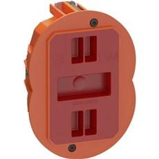 LK FUGA® Stikdåse - AIR SLIM forfradåse  1½ modul Orange