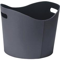 Varde Ovne Brændekurv - Kurv, læderlook sort/grå