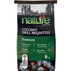 Nature Grill tilbehør - PREMIUM Kokosbriketter 6kg