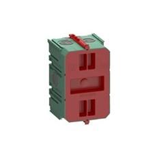 LK FUGA® Stikdåse - AIR dåse for indmuring 1½ modul, 49 mm dyb, IP40, vindtæt Grøn