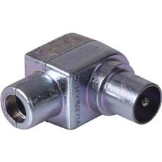 Jo-el Antennestik - hanstik vinklet IEC Coax metal