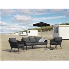 Outrium Havemøbelsæt - Torino sofasæt sort