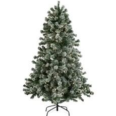 NORDIC WINTER Julebelysning inde - Kunstigt juletræ med LED lys og sne 150 CM