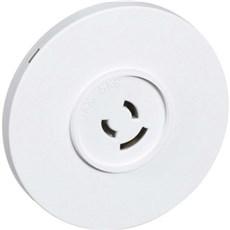 LK® Rosetmateriel Lampeudtag - Rund lampestikkontakt Ø80 mm HVID