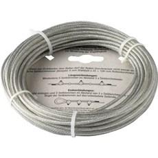 NKT Fasteners Kæde - Stålwire, PVC-belagt, elforzinket 1,5X3MM 10M