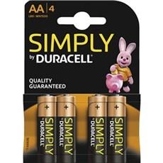 Duracell AA batterier - Simply AA 4pk