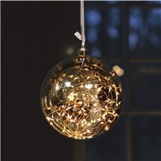 VELI LINE Dekorativ jul - Glassball � 15cm. Lysk�de med 40 led