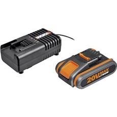 Worx Batteri - 20/4.0AH 2A lader