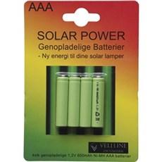 VELI LINE AAA batterier - SOLAR BATTERI AAA 4-PAK