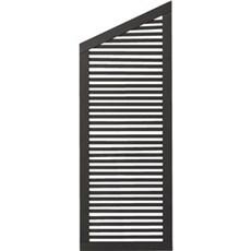Plus Træhegn - Silence Skrå-element 64x170/140 cm Fungicid beh. og grundmalet sort