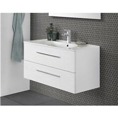 Scanbad Badeværelsessæt - Delta Kantate Hvid Mat 100 cm