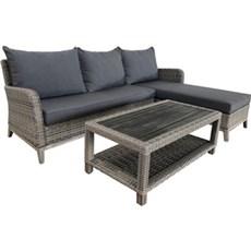 Outrium Havemøbelsæt - Sydney Hjørnesofa ekskl. sofabord