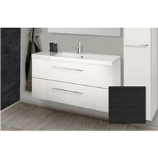 Scanbad Badeværelsessæt - Aura m/vask - Sort Struktur