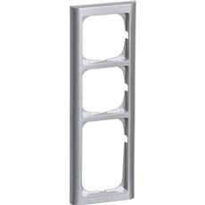 LK FUGA® Ramme - SOFTLINE 63 ramme 3½ modul, IP20 Stålmetallic