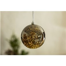 VELI LINE Dekorativ jul - Glassball. � 20cm Lysk�de med 60 led