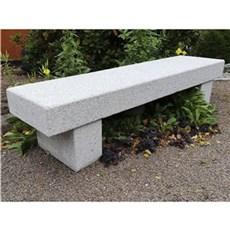 P&N Granitbænk - Model lange Maren, grå granit