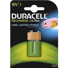 Duracell 9V batterier - Recharge Ultra 9V - 1 STK 170 mAH