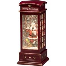 Konstsmide Julepynt med lys - Vandfyldt telefonboks med varmhvidt LED lys