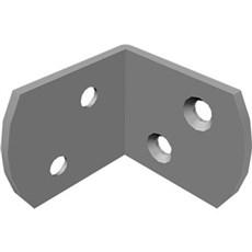 Plus Tilbehør hegn - 4 Plus L-Beslag pk. i pose inkl. rustfri skruer til træstolpe Varmgalvaniseret
