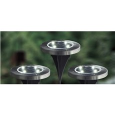 VELI LINE Solcellelampe - Solar Lawn Light 3 Pak.