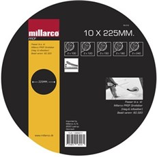 Millarco Sliberondel - 10 STK ASS. �225MM