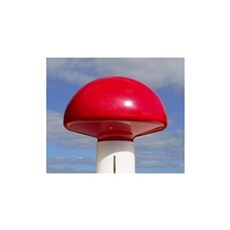 Dano mast Digital antenne - rød plastknop