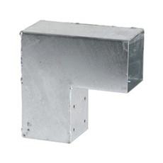 PLUS Tilbehør hegn - CUBIC Hjørnebeslag Enkelt 20x20 cm / Hulmål 9x9 cm inkl. skruer Varmgalvaniseret