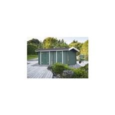 PLUS Træredskabsskur - Multi Lux redskabsrum m/saddeltag - 15 m² - ubehandlet