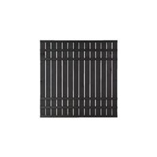 PLUS Træhegn - RUSTIK PLANKEHEGN GRUNDMALET SORT - 180x180 CM