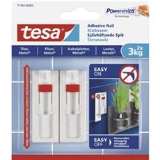 Tesa® Smart ophængningssystem - Justerbart klæbesøm til fliser og metal Til 3 kg / 2 stk